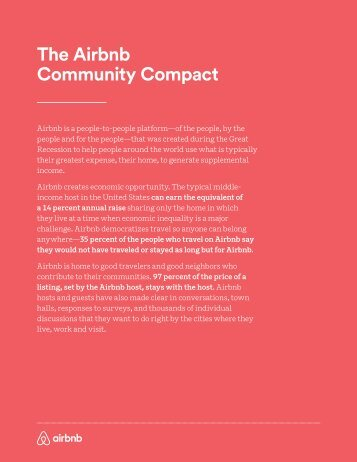 The Airbnb Community Compact