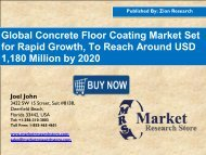 Concrete Floor Coating Market