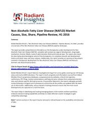 Non Alcoholic Fatty Liver Disease (NAFLD) Market Treatment, Symptoms, Causes, Pipeline Review, H1 2016