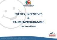 Events- und Rahmenprogramme 2016/2017
