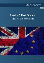 Brexit - A First Glance