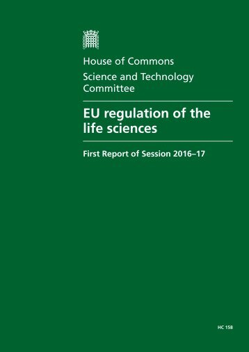 EU regulation of the life sciences