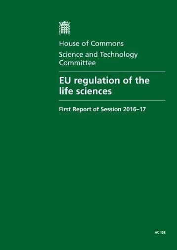 EU regulation of the life sciences