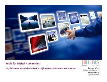 Tools for Digital Humanities