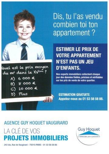 Estimation appartement Paris 15eme
