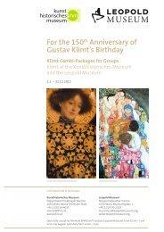 For the 150th Anniversary of Gustav Klimt's ... - Leopold Museum