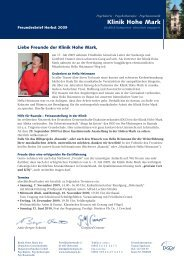 KHM-760-09 FB Herbst EW.indd - Klinik Hohe Mark