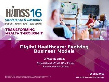 Digital Healthcare Evolving Business Models