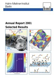 Annual Report 2001 - Helmholtz-Zentrum Berlin