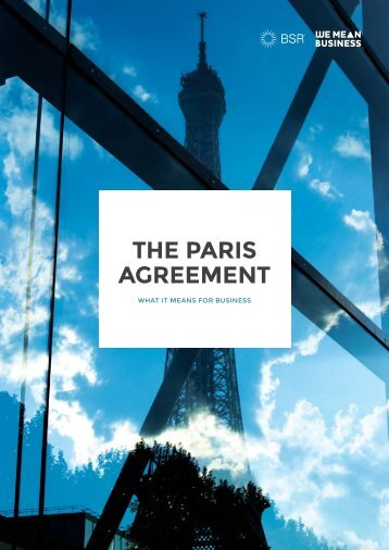 THE PARIS AGREEMENT