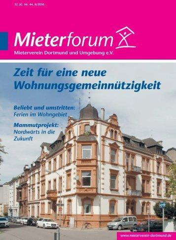 Mieterforum Dortmund - Ausgabe II/2016 (Nr. 44)