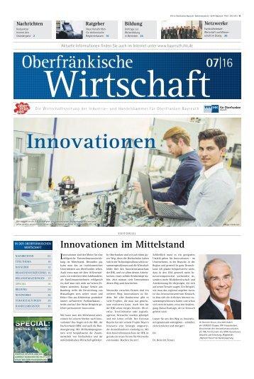 Oberfränkische Wirtschaft 7. Ausgabe 2016