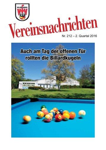 VfV Hildesheim - Vereinszeitung 2/2016