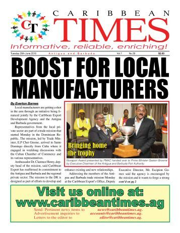 Caribbean Times 39th Issue - Tuesday 28th June 2016