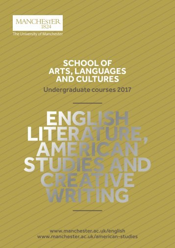ENGLISH LITERATURE AMERICAN STUDIES AND CREATIVE WRITING