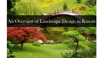 an overview of a landscape architect