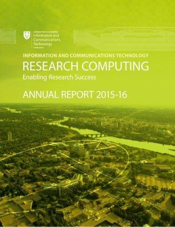 UNIVERSITY OF SASKATCHEWAN - ICT Research Computing