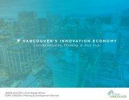 VANCOUVER'S INNOVATION ECONOMY