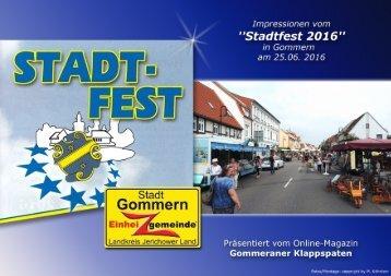 Gommern Stadtfest 2016