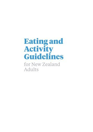 Eating and Activity Guidelines