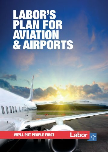 LABOR'S PLAN FOR AVIATION & AIRPORTS