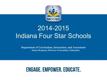 2014-2015 Indiana Four Star Schools