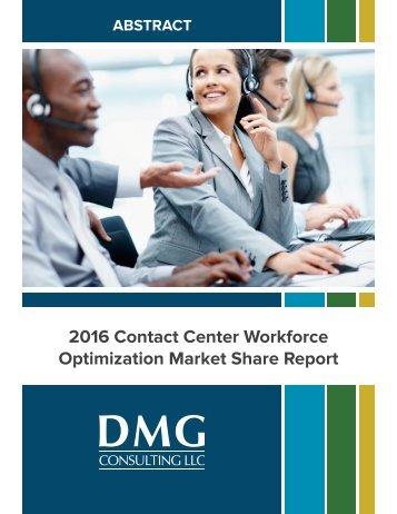 2016 Contact Center Workforce Optimization Market Share Report