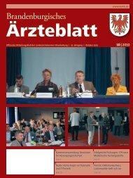 Ausgabe 10/2010 - Landesärztekammer Brandenburg