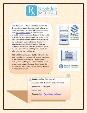 Buy Sildenafil Generic Online