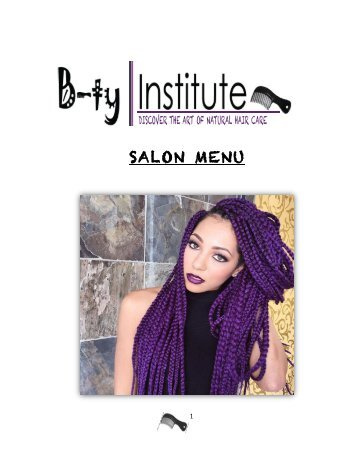B-ty Institute SALON MENU