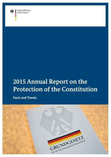 2015 Annual Report on the Protection of the Constitution