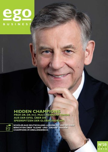 ego Business - Hidden Champions - ego Ausgabe 20