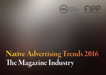 Native Advertising Trends 2016 The Magazine Industry