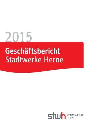 Geschäftsbericht Stadtwerke Herne AG 2015