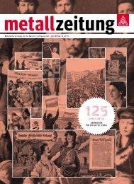metallzeitung 125 Jahre IG Metall
