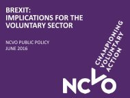 BREXIT IMPLICATIONS FOR THE VOLUNTARY SECTOR