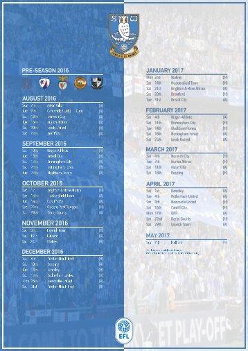 NEW | 2016:17 Fixtures