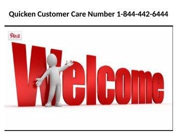 Quicken Customer Service Phone Number 1-844-442-6444