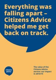 Everything was falling apart – Citizens Advice helped me get back on track