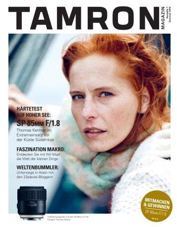 Tamron Magazin Ausgabe 1 Sommer 2016
