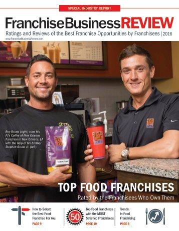 Top Food Franchises 2016