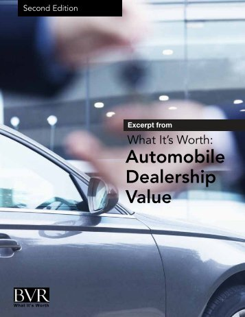 Automobile Dealership Value