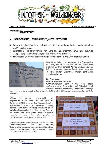 """Infothek Waldkinder - 7 """"Baumstarke"""" Mitmachprojekte entdeckt"""