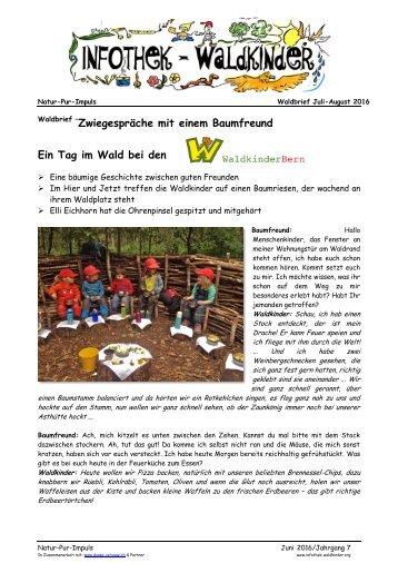 Infothek Waldkinder - Zwiegespräche mit einem Baumfreund