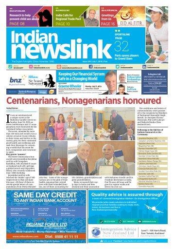 Indian Newslink July 1 2016 Edition