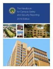 The Handbook for Campus Safety and Security Reporting 2016 Edition