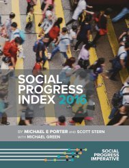 SOCIAL PROGRESS INDEX 2016