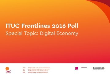 ITUC Frontlines 2016 Poll