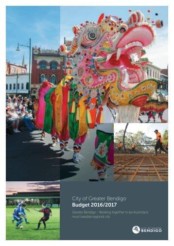 City of Greater Bendigo Budget 2016/2017