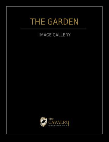 Garden Brochure - Cavalry Construction